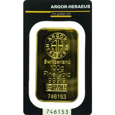 zlatna poluga od 100 grama
