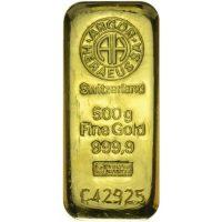 zlatna poluga od 500 grama
