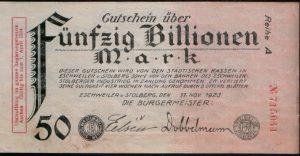 njemačka marka inflacija