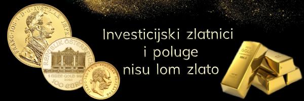 Otkup zlata - Zlatnici i zlatne poluge nisu lom zlato